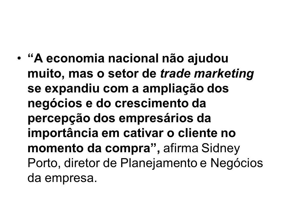 A economia nacional não ajudou muito, mas o setor de trade marketing se expandiu com a ampliação dos negócios e do crescimento da percepção dos empres