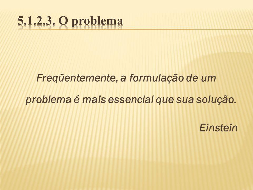 Freqüentemente, a formulação de um problema é mais essencial que sua solução. Einstein