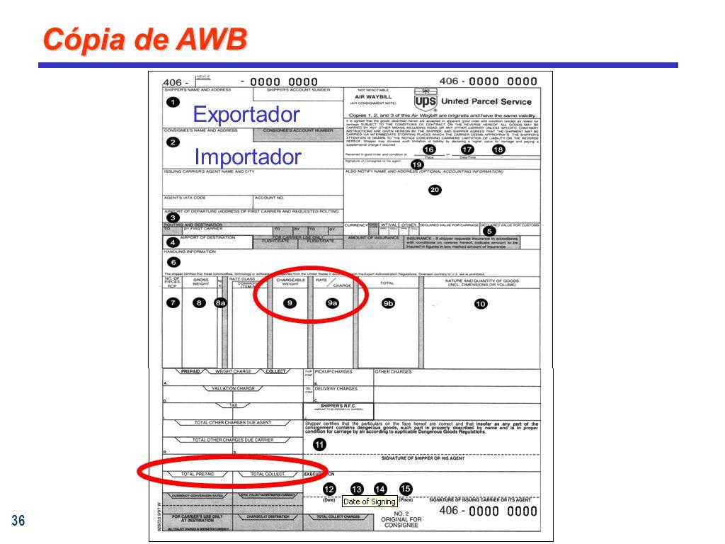 36 Cópia de AWB Exportador Importador