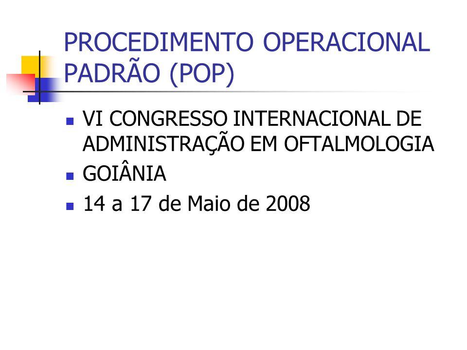 VI CONGRESSO INTERNACIONAL DE ADMINISTRAÇÃO EM OFTALMOLOGIA GOIÂNIA 14 a 17 de Maio de 2008