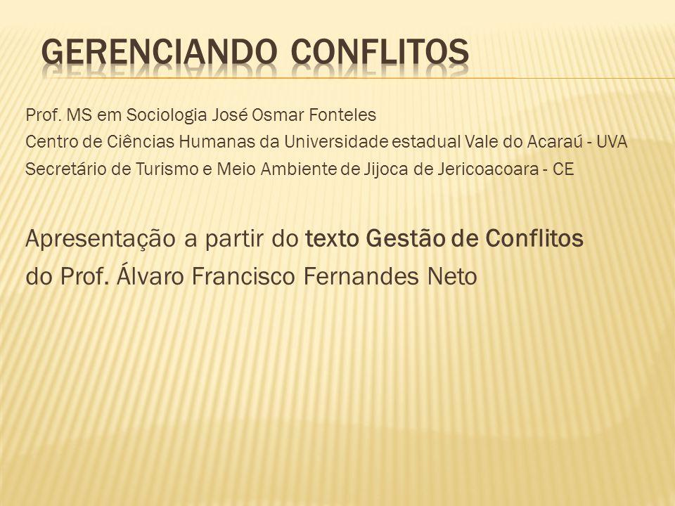 Prof. MS em Sociologia José Osmar Fonteles Centro de Ciências Humanas da Universidade estadual Vale do Acaraú - UVA Secretário de Turismo e Meio Ambie