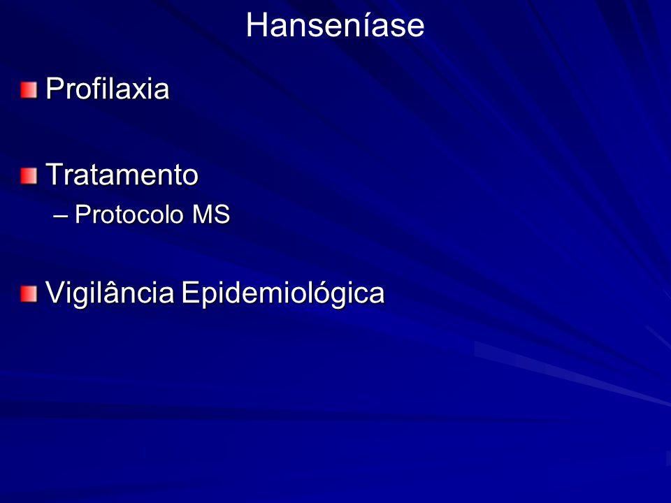 ProfilaxiaTratamento –Protocolo MS Vigilância Epidemiológica Hanseníase