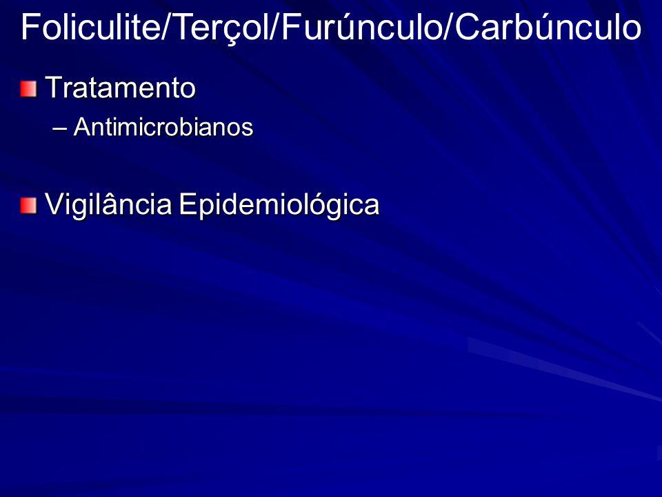 Tratamento –Antimicrobianos Vigilância Epidemiológica Foliculite/Terçol/Furúnculo/Carbúnculo