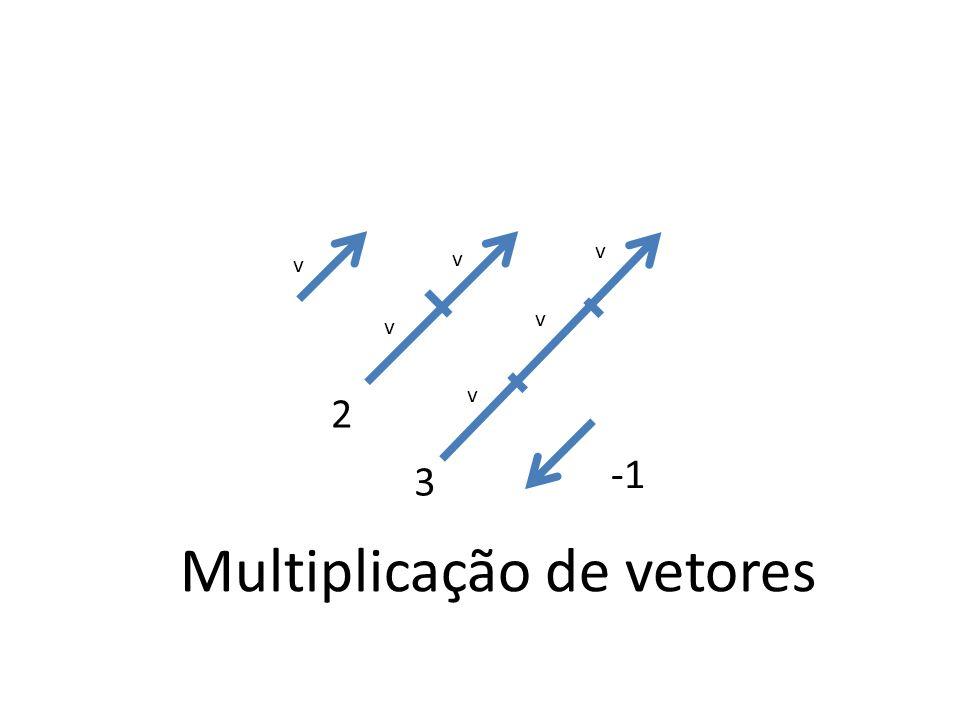 v v v v v v 2 3 Multiplicação de vetores