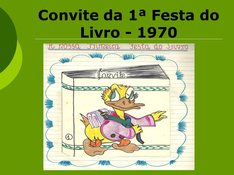 Convite da 1ª Festa do Livro - 1970