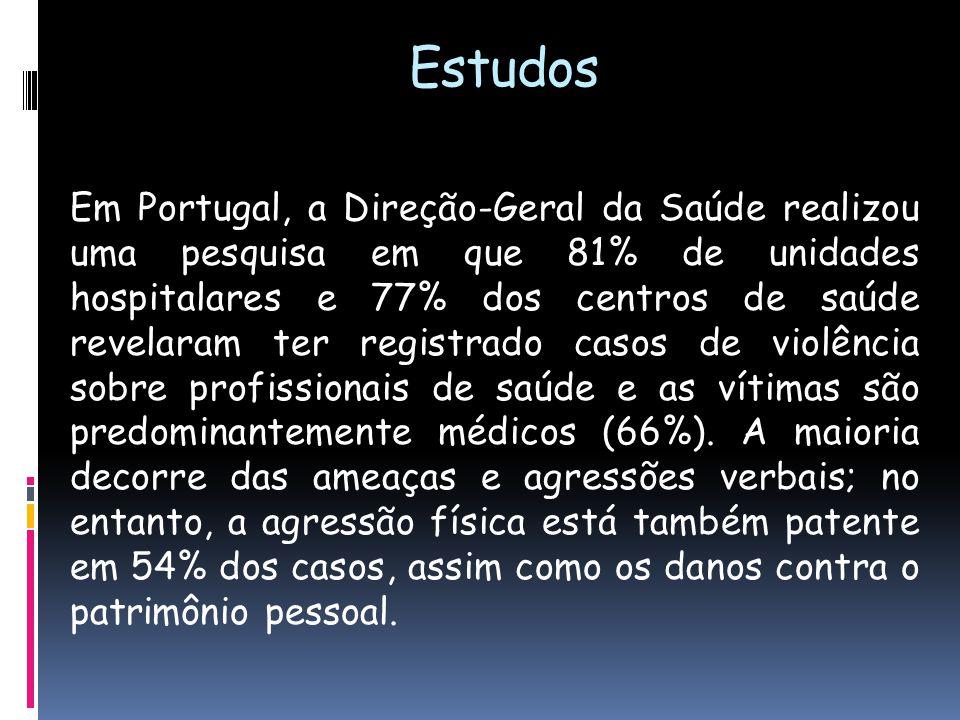 Em Portugal, a Direção-Geral da Saúde realizou uma pesquisa em que 81% de unidades hospitalares e 77% dos centros de saúde revelaram ter registrado ca