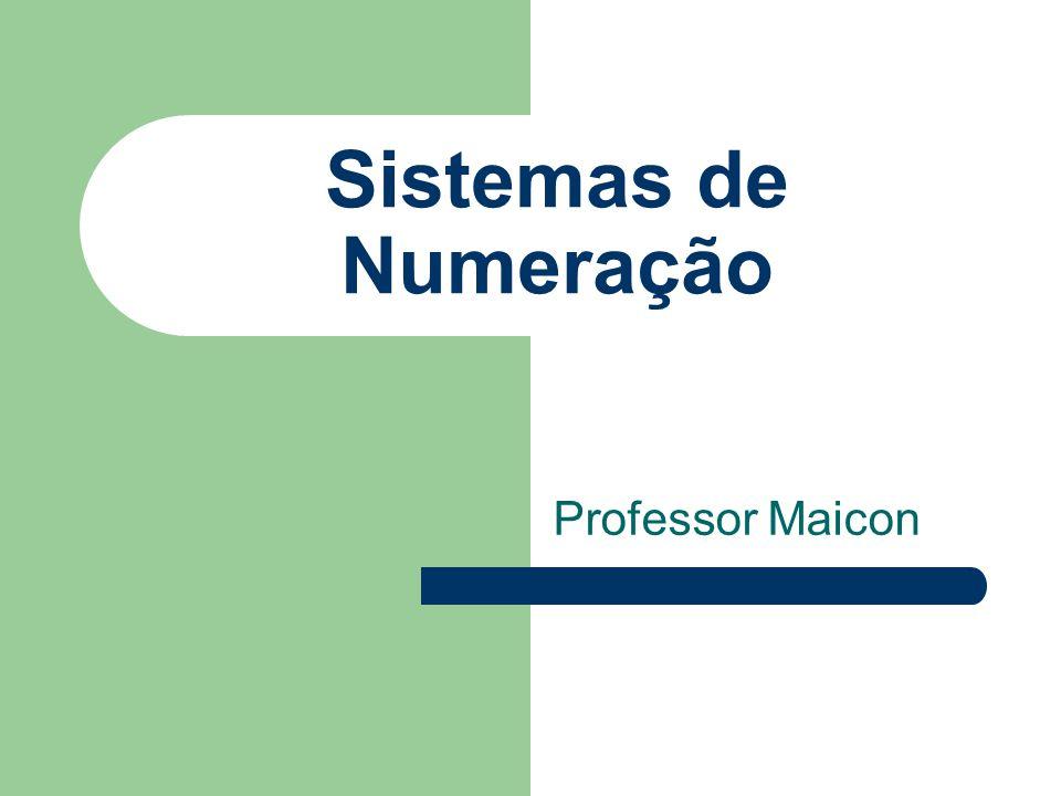 Sistemas de Numeração Professor Maicon