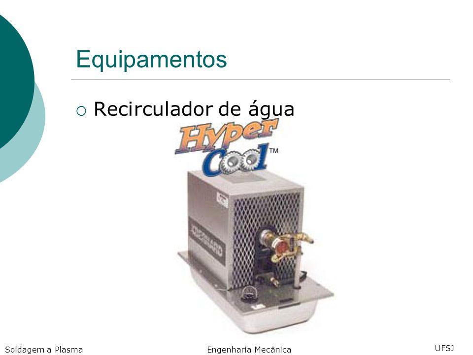 Equipamentos Recirculador de água Engenharia Mecânica UFSJ Soldagem a Plasma