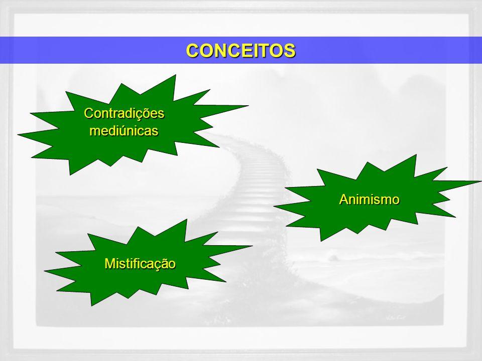 Contradiçõesmediúnicas Mistificação Animismo CONCEITOS
