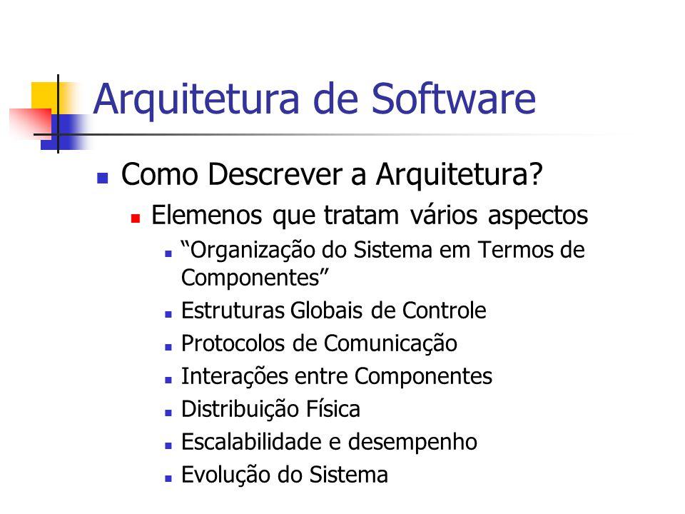 Arquitetura de Software Como Descrever a Arquitetura.