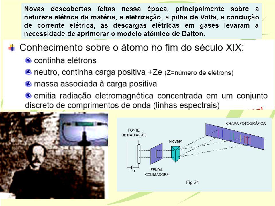 Novas descobertas feitas nessa época, principalmente sobre a natureza elétrica da matéria, a eletrização, a pilha de Volta, a condução de corrente elé