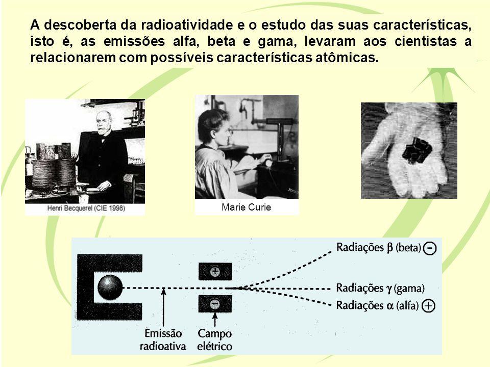 A descoberta da radioatividade e o estudo das suas características, isto é, as emissões alfa, beta e gama, levaram aos cientistas a relacionarem com p