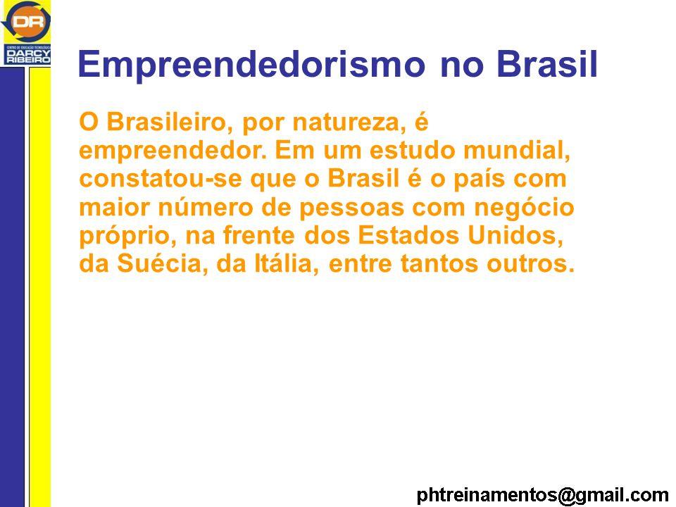 Empreendedorismo no Brasil O Brasileiro, por natureza, é empreendedor.