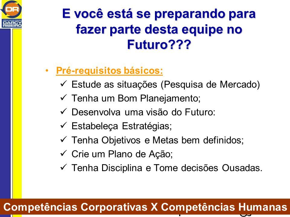 E você está se preparando para fazer parte desta equipe no Futuro??.