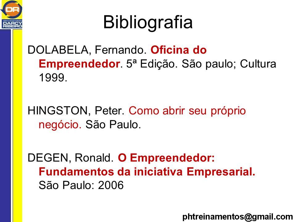 Bibliografia DOLABELA, Fernando.Oficina do Empreendedor.