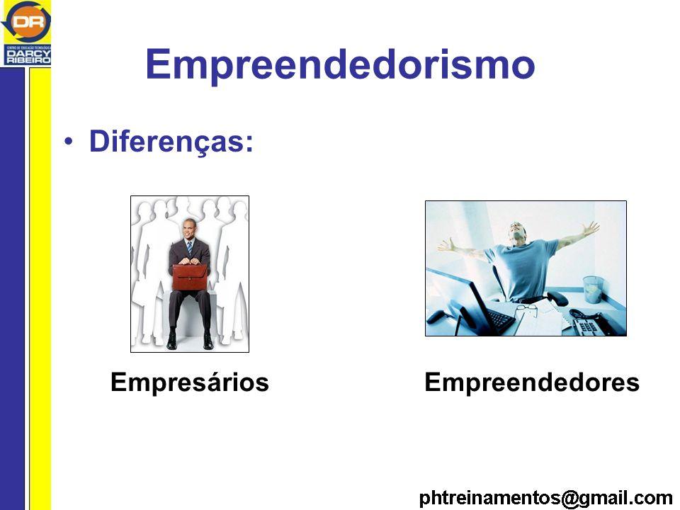 Empreendedorismo Diferenças: EmpresáriosEmpreendedores