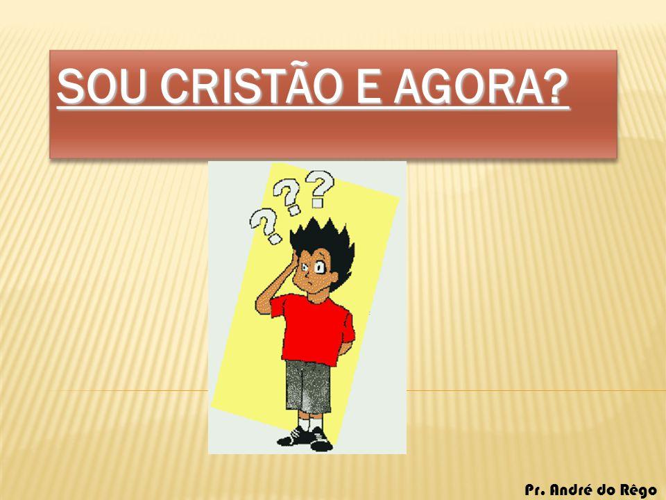 SOU CRISTÃO E AGORA? Pr. André do Rêgo