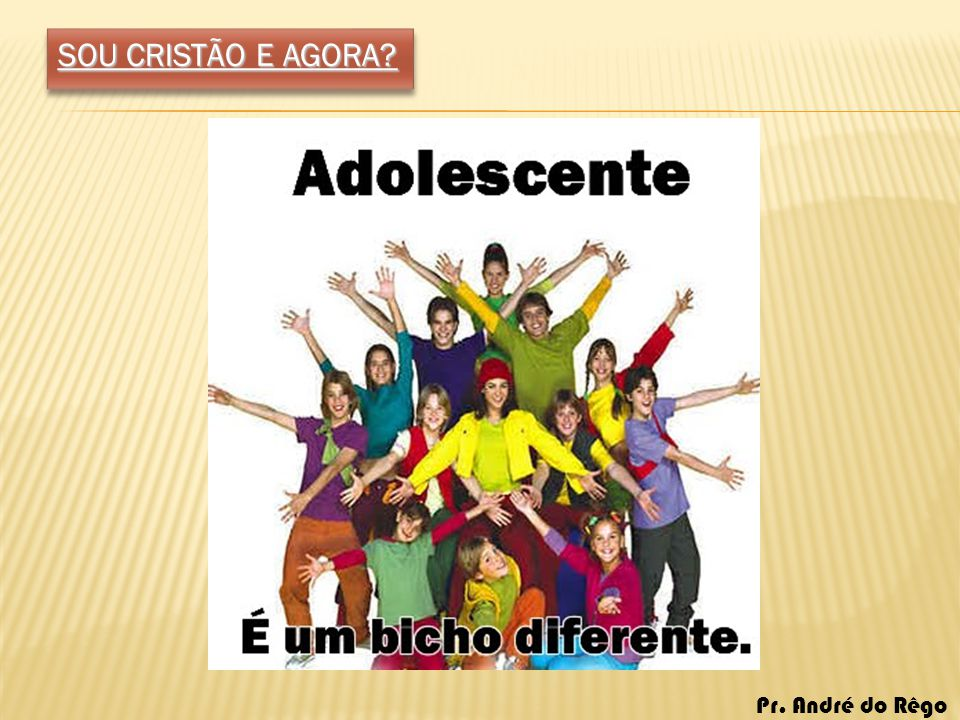 SOU CRISTÃO E AGORA.1. APARÊNCIA.