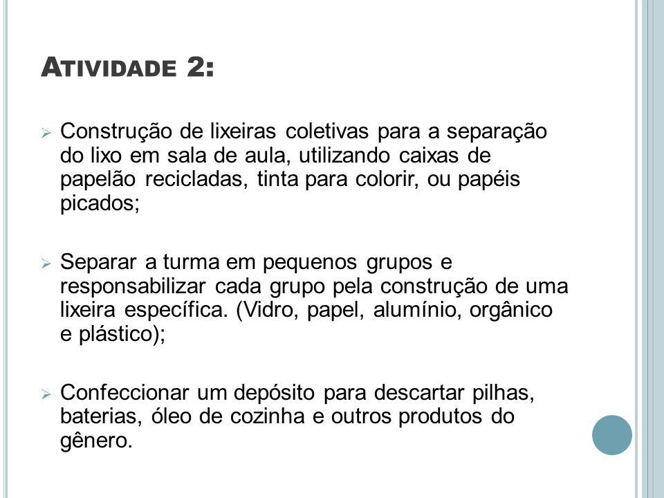 REFERÊNCIA S: http://images.google.com.br/imgres?q=reciclagem&hl=pt- BR&gbv=2&biw=1024&bih=509&tbm=isch&tbnid=nc28K806fHaRqM:&imgrefurl=ht tp://lixonolixao.blogspot.com/2007/08/benefcios-da- reciclagem.html&docid=CBWUSN7DUUAS3M&imgurl=http://2.bp.blogspot.com/_1 6wP0h2aQG4/RsYGJVgYPSI/AAAAAAAAABs/iDBNqWn6w9U/s400/a01reciclage m.gif&w=300&h=242&ei=XIbJTuCLAs2_gQeqw6w4&zoom=1 http://images.google.com.br/imgres?q=reciclagem&hl=pt- BR&gbv=2&biw=1024&bih=509&tbm=isch&tbnid=7ttLEHROnxNPlM:&imgrefurl=htt p://meioambiente.culturamix.com/poluicao/objetivos-da- reciclagem&docid=UMiPMtUdT2BEhM&imgurl=http://meioambiente.culturamix.co m/blog/wp-content/gallery/objetivos-da-reciclagem/reciclagem- 9.jpg&w=412&h=432&ei=XIbJTuCLAs2_gQeqw6w4&zoom=1 http://images.google.com.br/imgres?q=reciclagem&hl=pt- BR&gbv=2&biw=1024&bih=509&tbm=isch&tbnid=V8auEvLwuGmyTM:&imgrefurl= http://meioambiente.culturamix.com/reciclagem/simbolos-da- reciclagem&docid=6NfjDD5PFHYg4M&imgurl=http://meioambiente.culturamix.com /blog/wp-content/gallery/simbolos-da-reciclagem/simbolos-da-reciclagem- 4.jpg&w=512&h=512&ei=XIbJTuCLAs2_gQeqw6w4&zoom=1