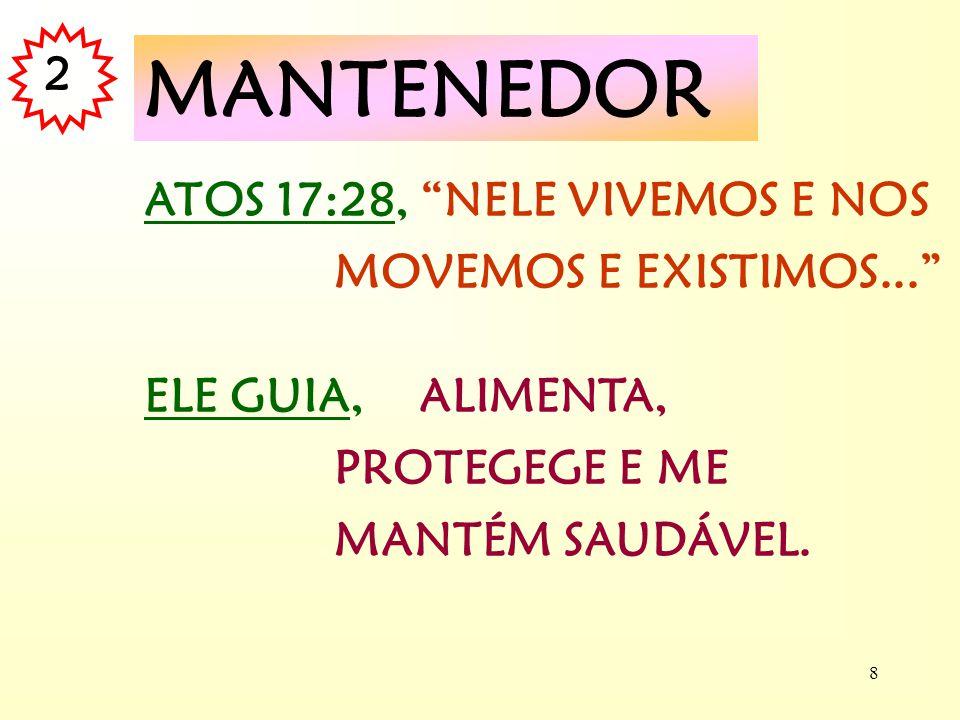 7 COLOSSENSES 1:15-20, NELE FO-RAM CRIADAS TODAS AS COISAS... SALMO 24:1, PROPRIETÁRIO - DO SENHOR É A TERRA... AGEU 2:8, DONO - MINHA É A PRATA... SA