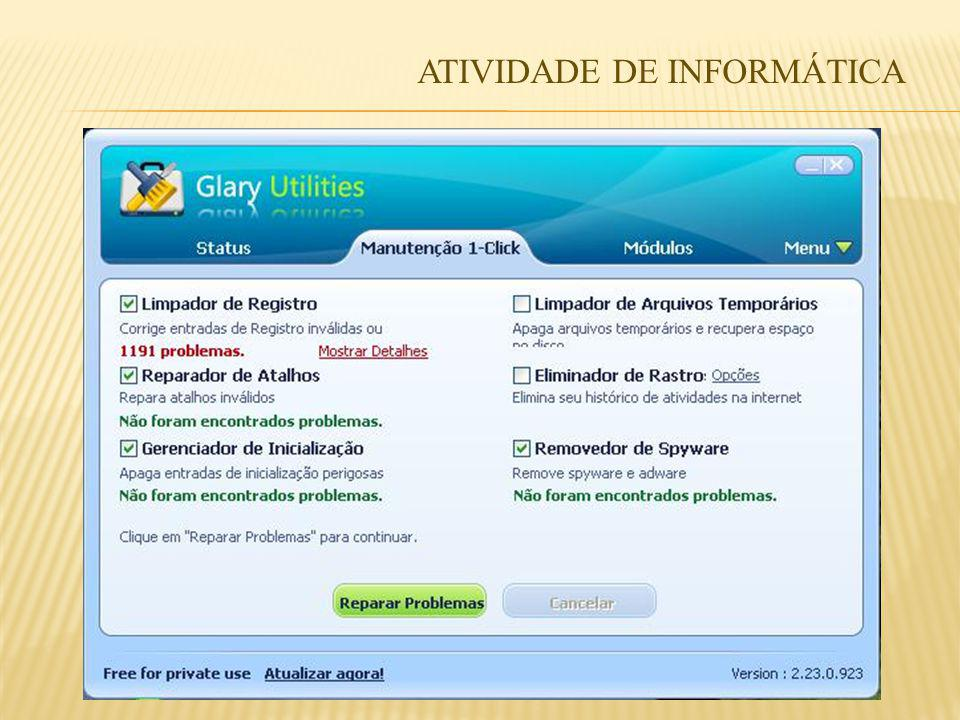 ATIVIDADE DE INFORMÁTICA