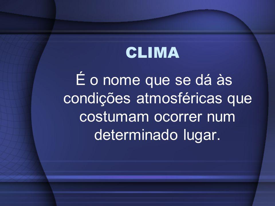 CLIMA NO BRASIL Com mais de 80% do seu território na zona inter- tropical, o Brasil apresenta três tipos de tropicalidade.
