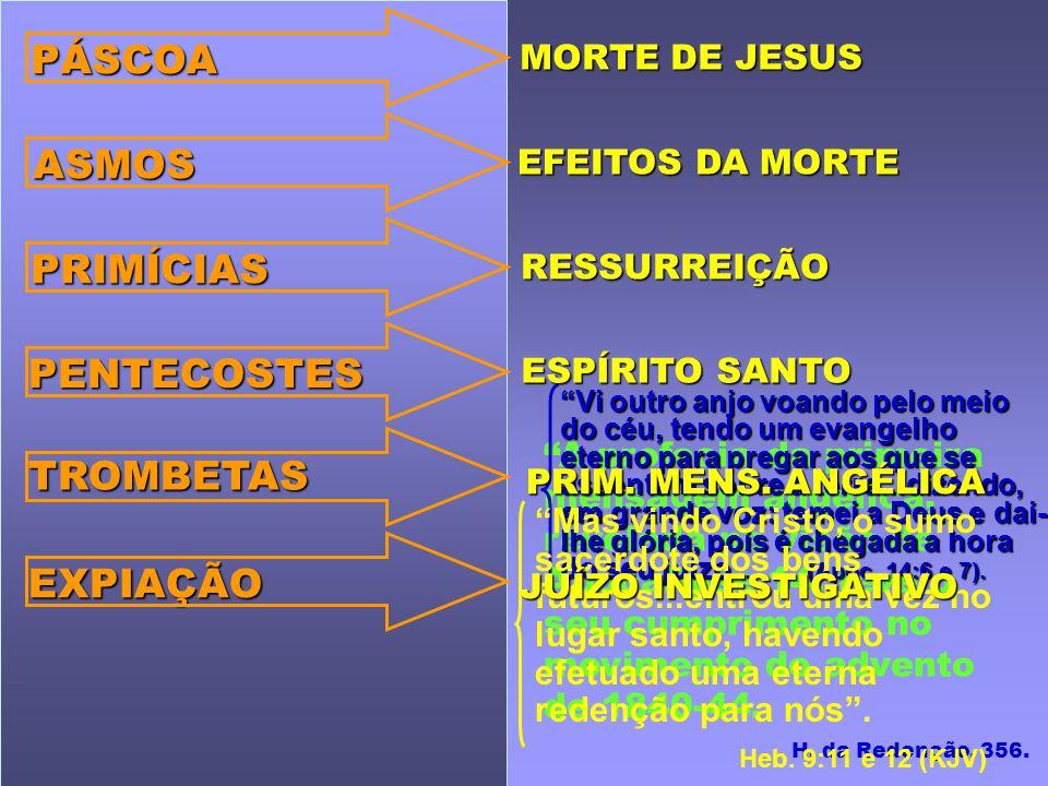 A profecia da primeira mensagem angélica, revelada na visão de Apocalipse 14, teve o seu cumprimento no movimento do advento de 1840-44. H. da Redençã