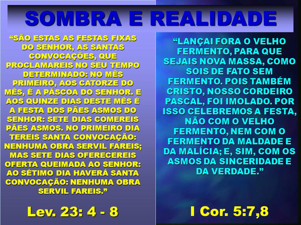 Disse mais o Senhor a Moisés: Fala aos filhos de Israel, e dize-lhes: Quando entrares na terra, que vos dou, e segares a sua messe, então trareis um molho das primícias da vossa messe ao sacerdote: este moverá o molho perante o SENHOR, para que sejais aceitos: no dia imediato ao sábado o sacerdote o moverá.
