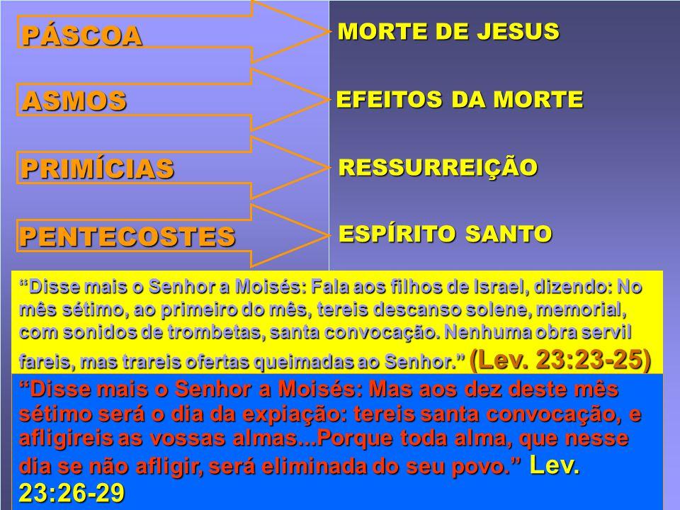 Disse mais o Senhor a Moisés: Fala aos filhos de Israel, dizendo: No mês sétimo, ao primeiro do mês, tereis descanso solene, memorial, com sonidos de