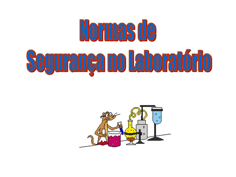 Antes da Experiência Lembrar das regras de conduta no laboratório Conhecer os perigos das substâncias iniciais e finais Conhecer os procedimentos gerais em caso de emergência