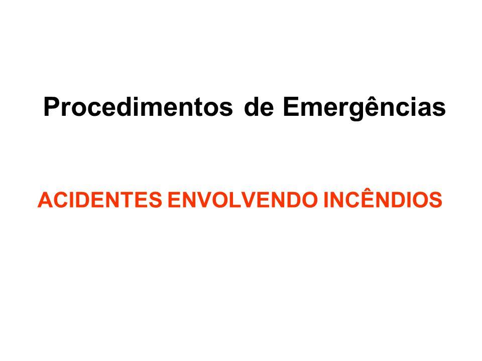 Procedimentos de Emergências ACIDENTES ENVOLVENDO INCÊNDIOS