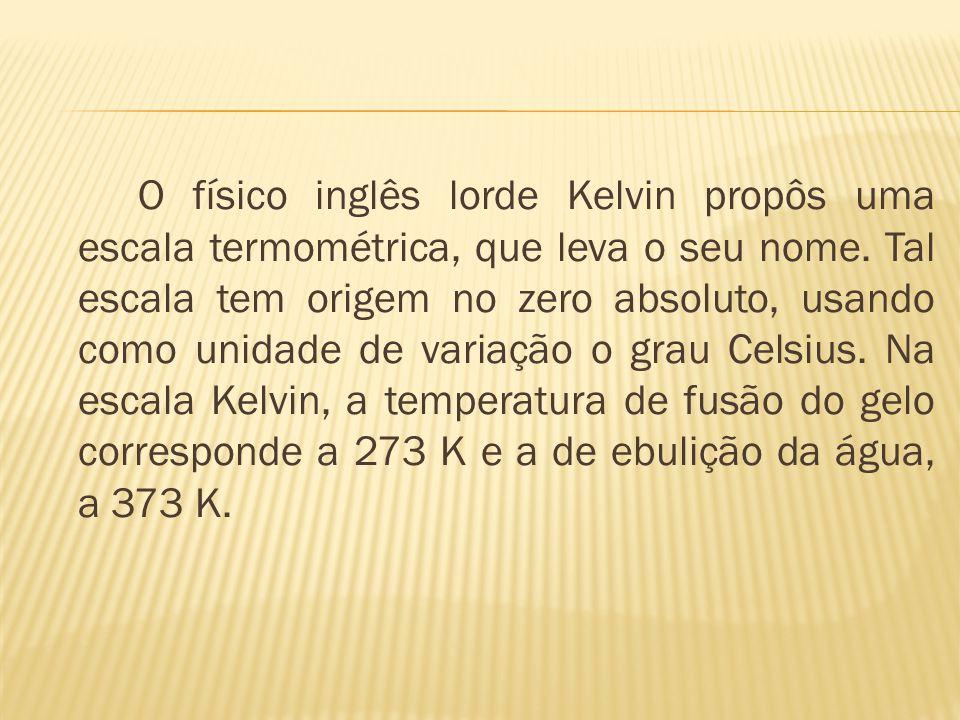 Em 1832 Lord Kelvin descobre que a descompressão dos gases provoca esfriamento, e cria a escala de temperaturas absolutas, cujo valor da temperatura e