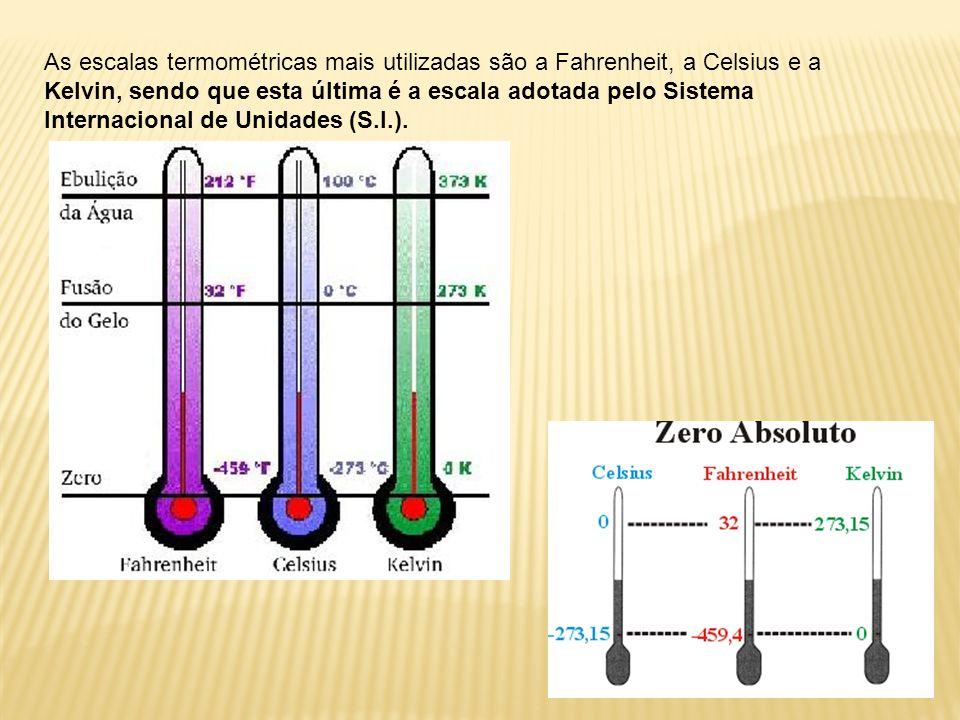 O físico inglês lorde Kelvin propôs uma escala termométrica, que leva o seu nome. Tal escala tem origem no zero absoluto, usando como unidade de varia