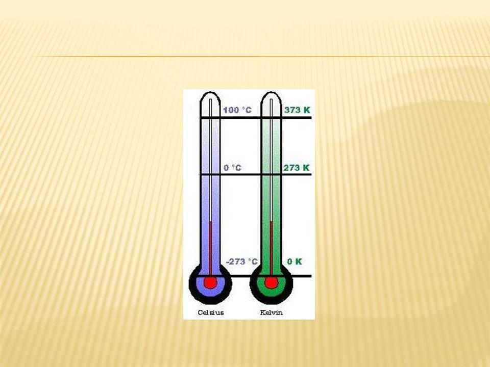 tC = tK – 273 tC = temperatura Celcius tK = temperatura Kelvin