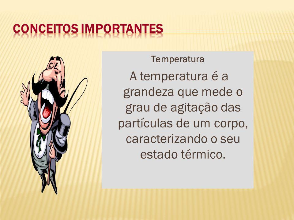 Termometria – Estuda as medidas de temperaturas e os efeitos provocados pela sua variação.