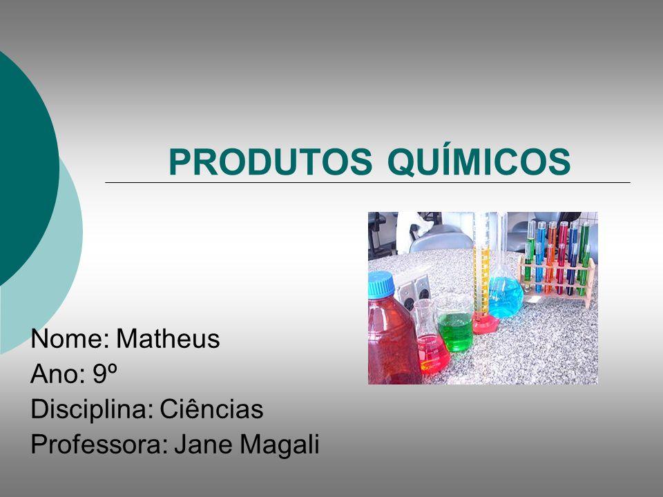 Introdução A produção e o uso de produtos químicos são fatores fundamentais para o desenvolvimento econômico dos países.
