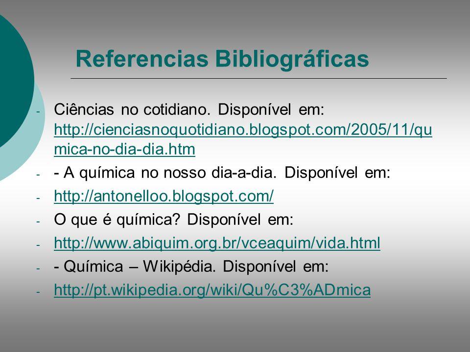 Referencias Bibliográficas - Ciências no cotidiano.