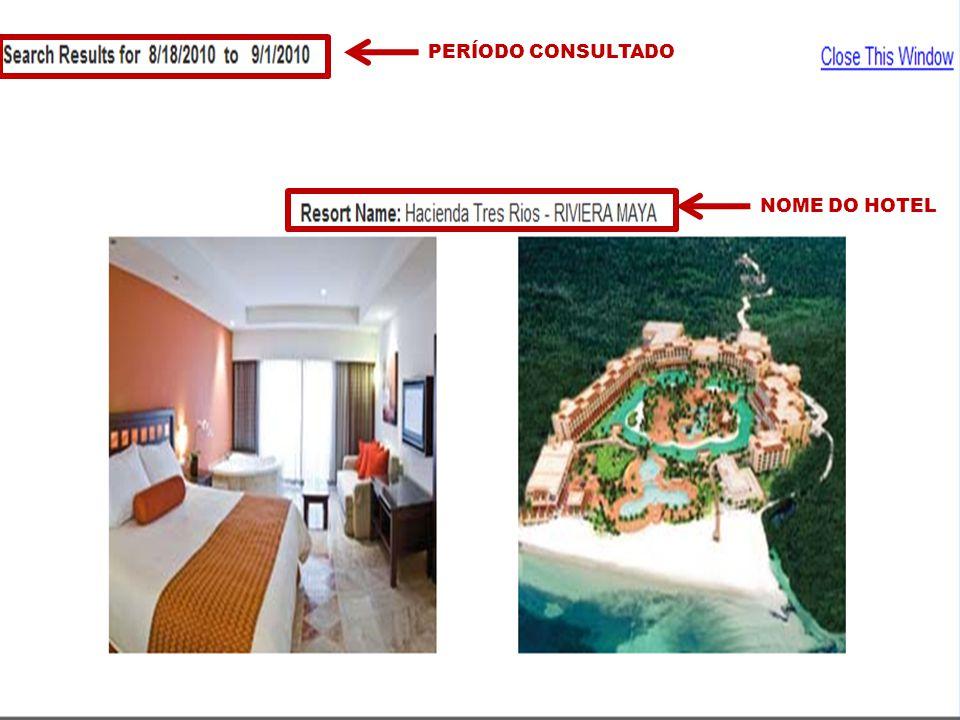 DDViajeMais PERÍODO CONSULTADO NOME DO HOTEL