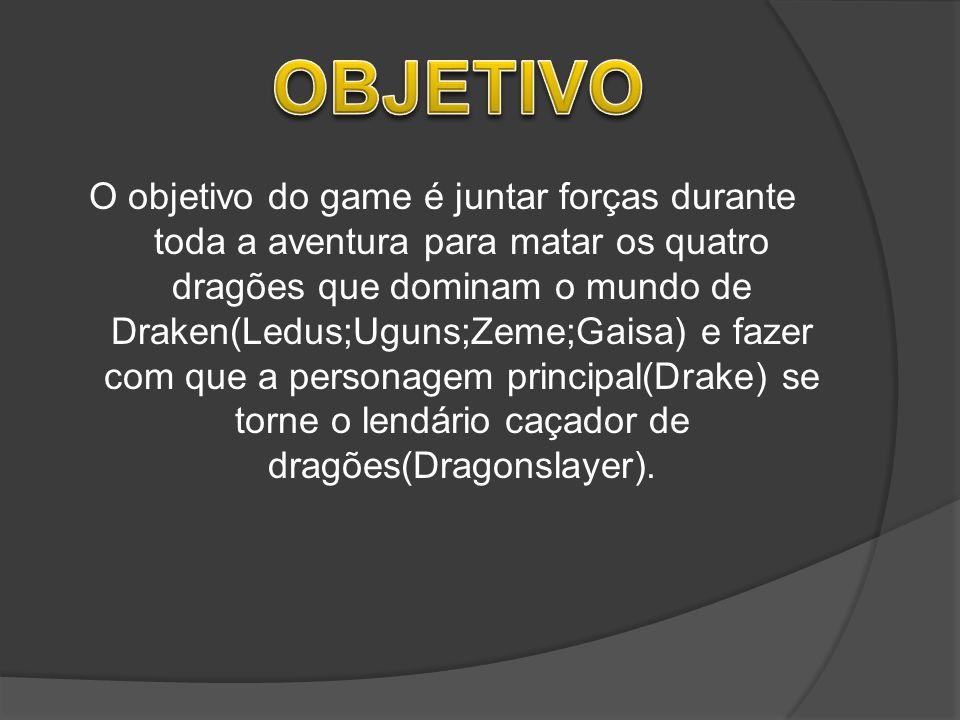 O objetivo do game é juntar forças durante toda a aventura para matar os quatro dragões que dominam o mundo de Draken(Ledus;Uguns;Zeme;Gaisa) e fazer