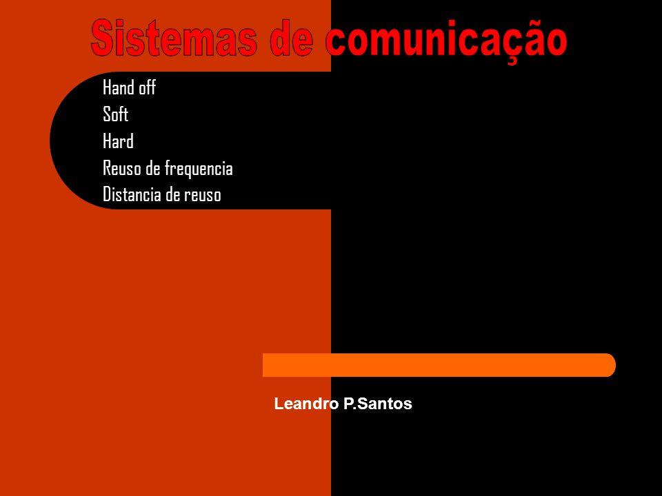 Hand off Soft Hard Reuso de frequencia Distancia de reuso Leandro P.Santos