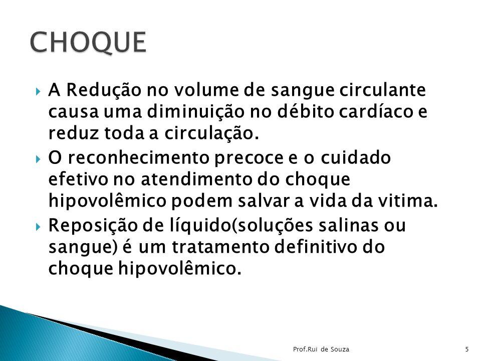 A Redução no volume de sangue circulante causa uma diminuição no débito cardíaco e reduz toda a circulação. O reconhecimento precoce e o cuidado efeti