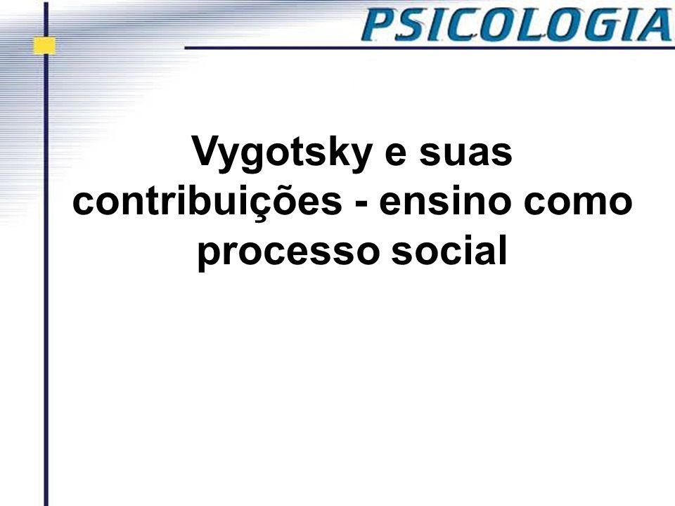 Vygotsky e suas contribuições - ensino como processo social