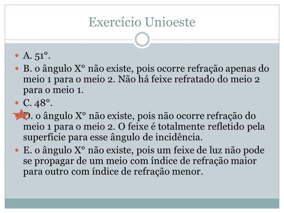 Exercício Unioeste A.51°. B.