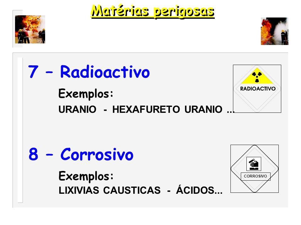 6 - Tóxico Exemplo : CIENETO DE SÓDIO - FOSFORETO DE ALUMÍNIO...