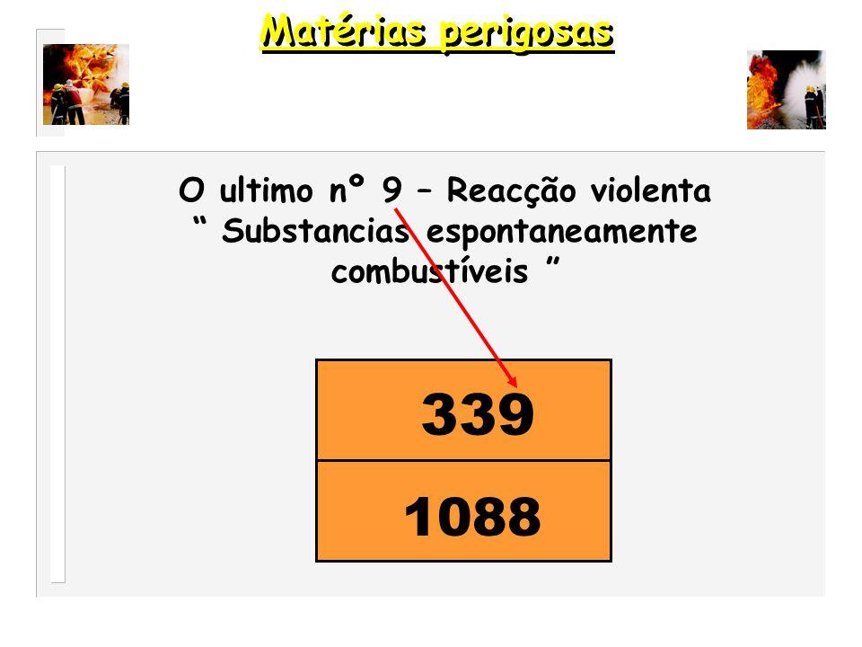 33 1088 Nº repetido perigo intensificado Matérias perigosas