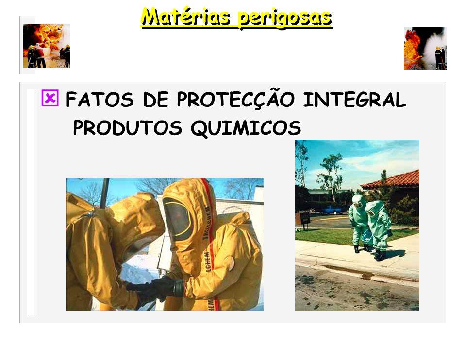 DISTANCIAS DE EVACUAÇÃO PRIMEIROS SOCORROS Matérias perigosas