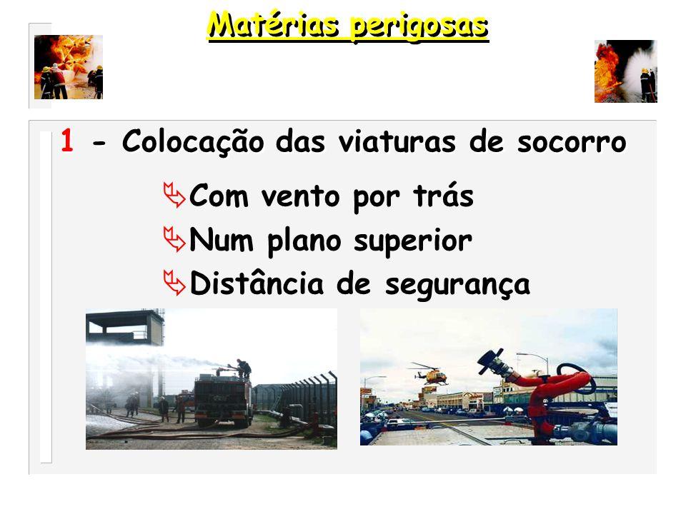 Instruções gerais de emergência em caso de acidente. Matérias perigosas