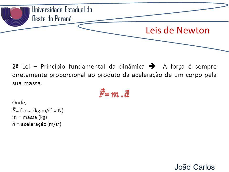 Universidade Estadual do Oeste do Paraná João Carlos Pozzobon Leis de Newton
