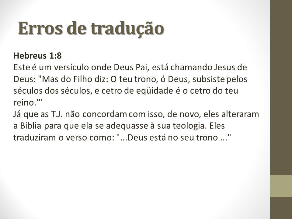 Hebreus 1:8 Este é um versículo onde Deus Pai, está chamando Jesus de Deus: