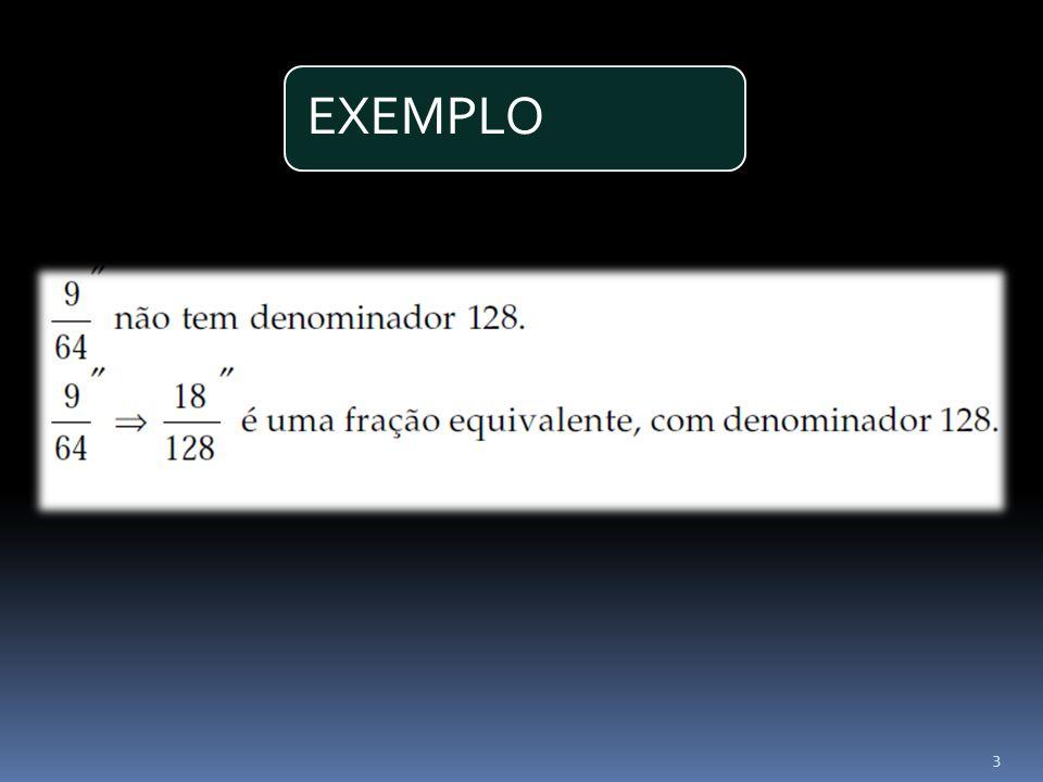 2º Passo Dividir o numerador por 8, Utilizando o exemplo anterior: 4